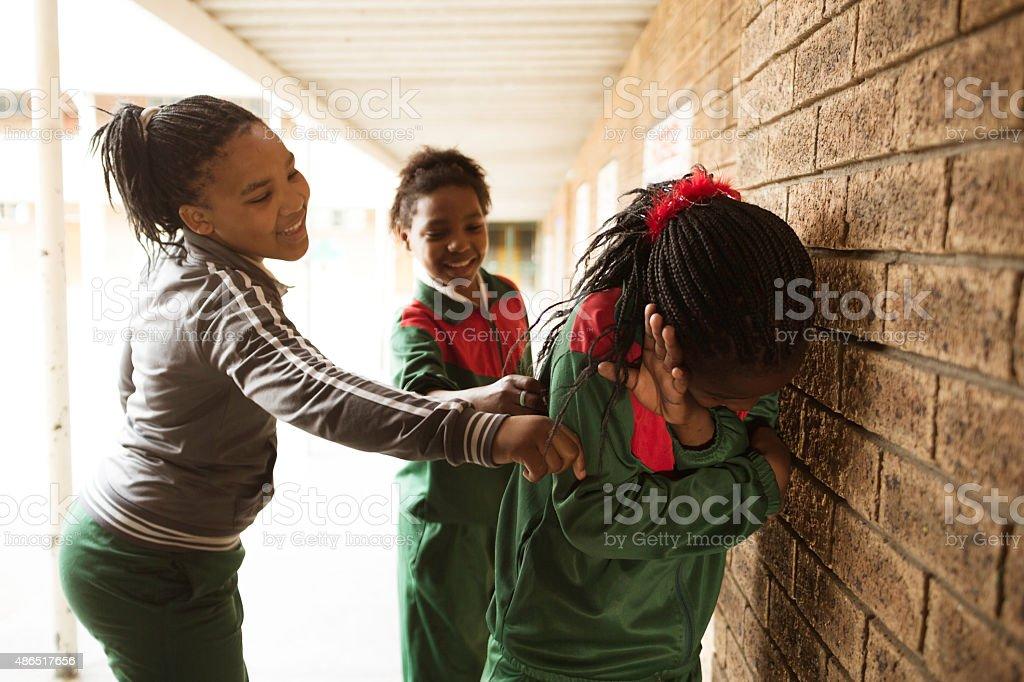 School girl bullies stock photo