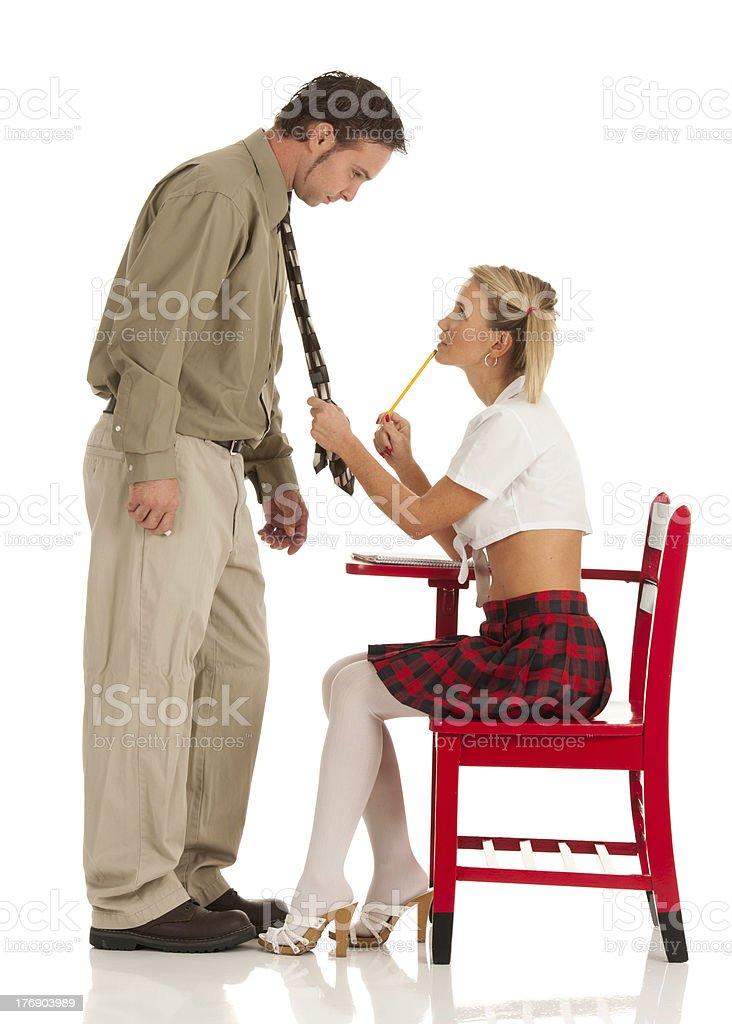 School Girl Crush on Teacher (Isolated) royalty-free stock photo