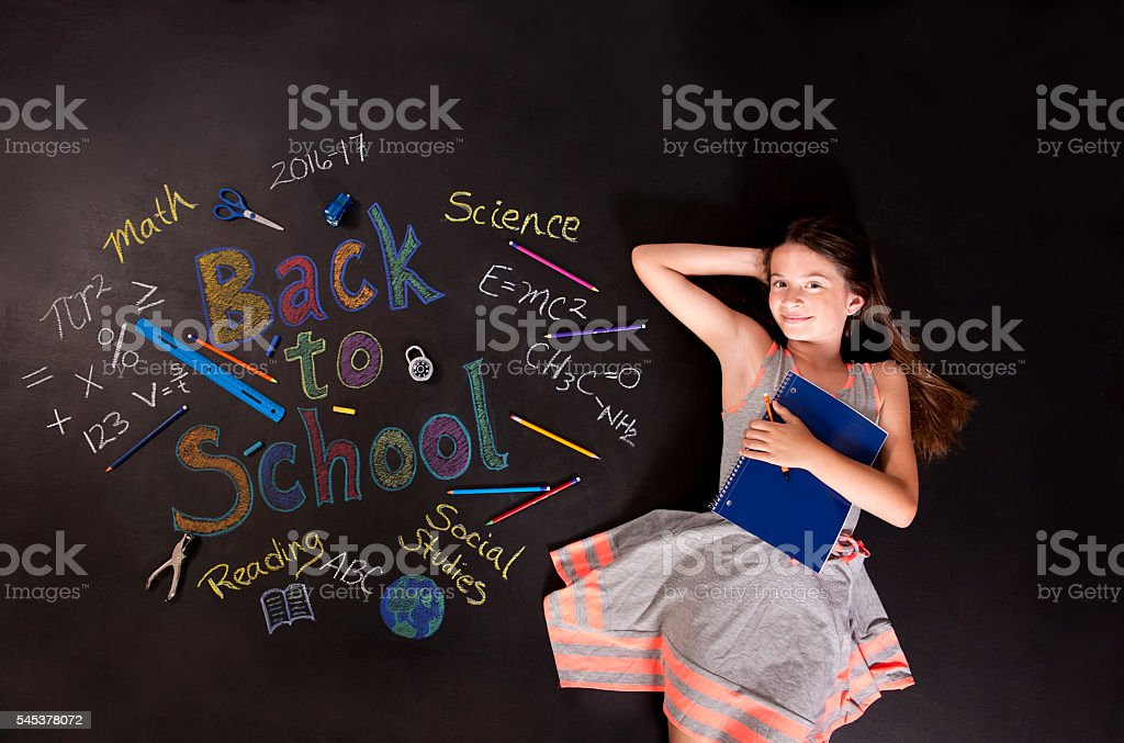 School Girl stock photo