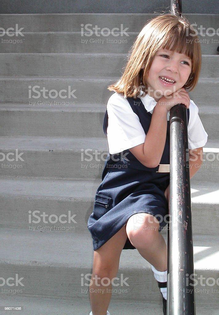 School Girl Smiling stock photo