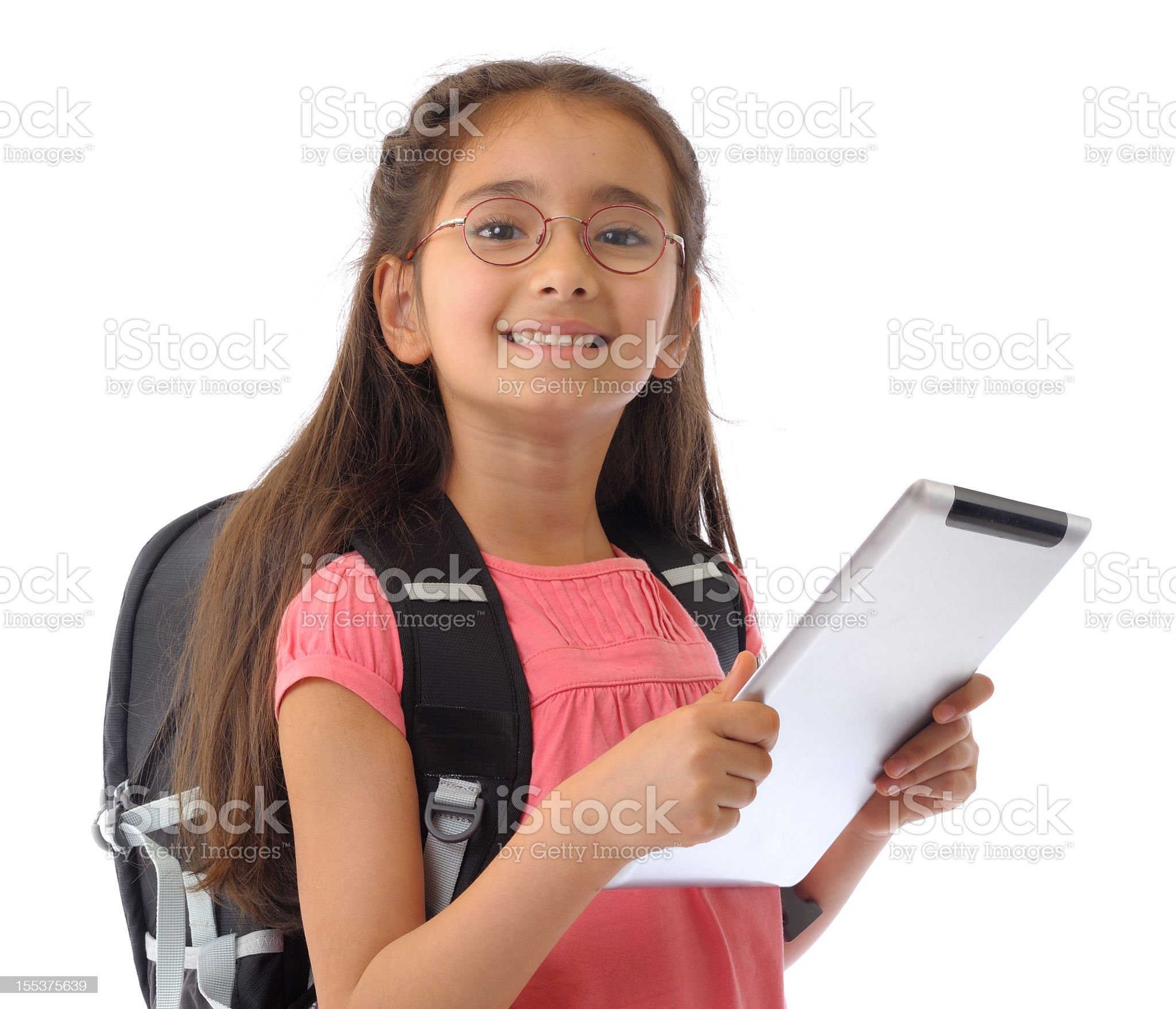 School girl with tablet pc royalty-free stock photo