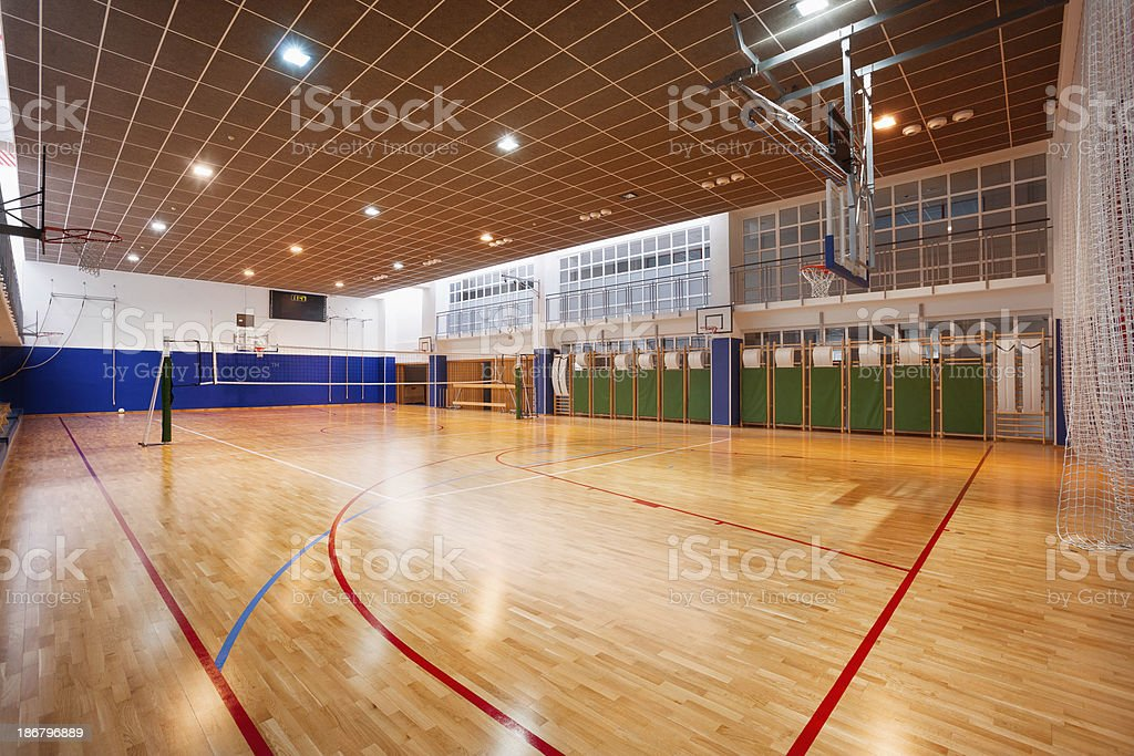 School gymnasium stock photo