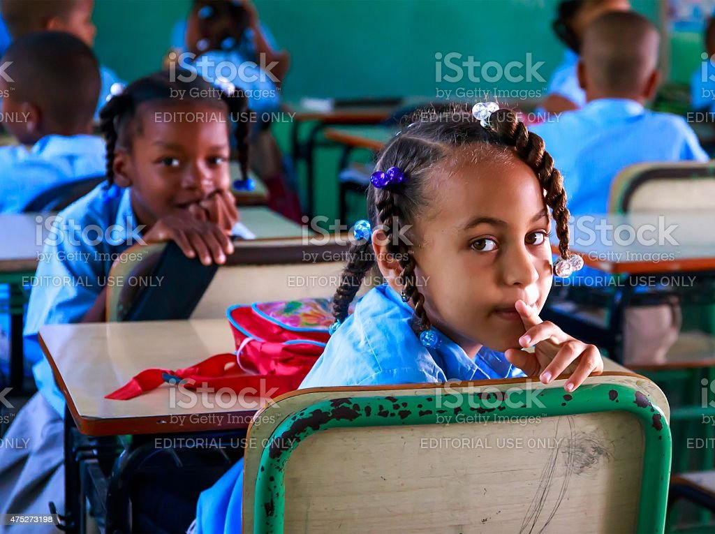 School in Dominican Republic stock photo