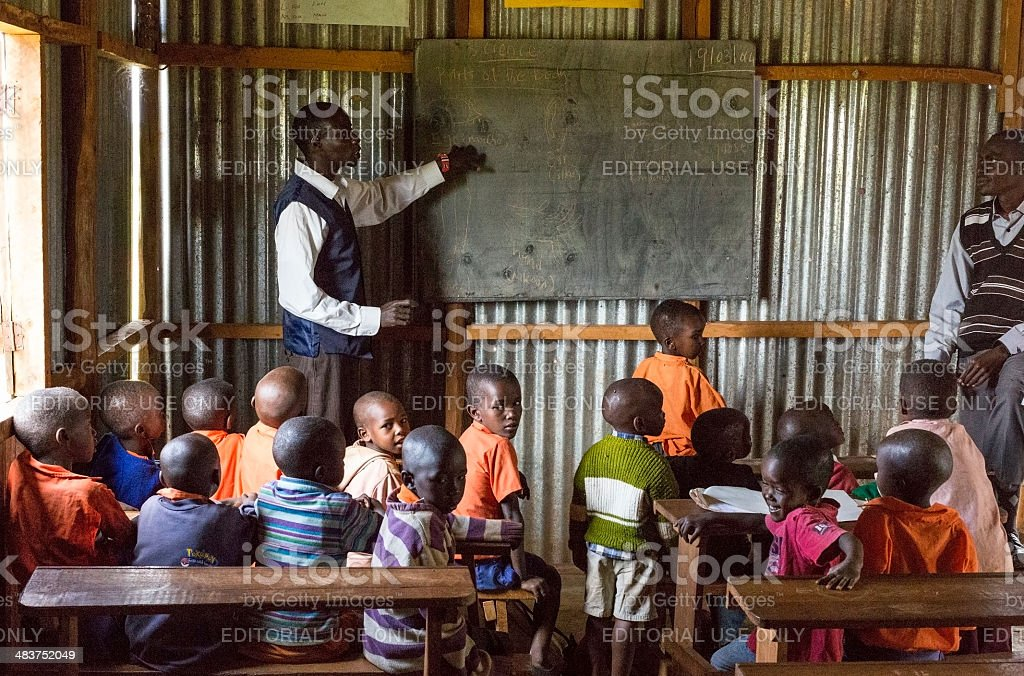 School in Maasai land. stock photo