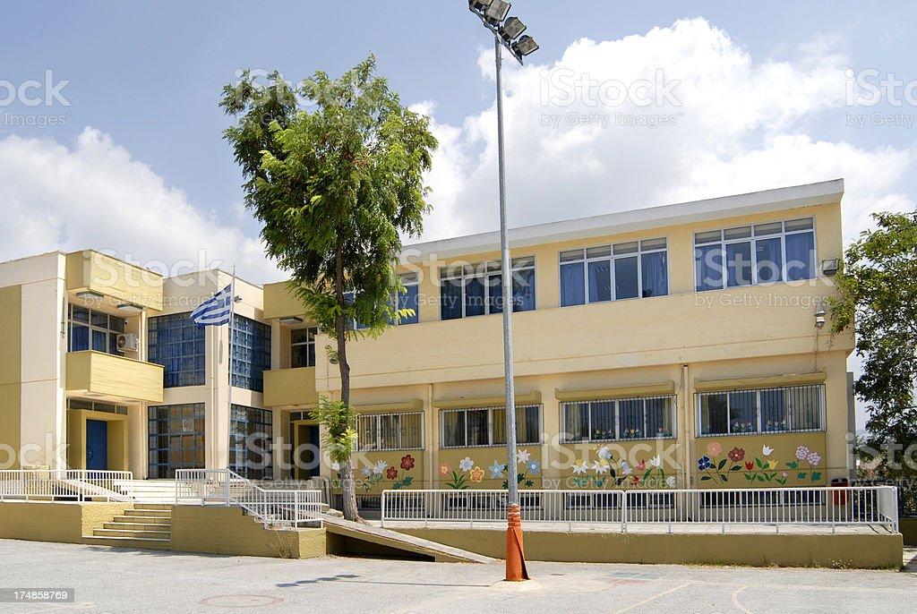 'school in Neos Marmaras, Greece' stock photo