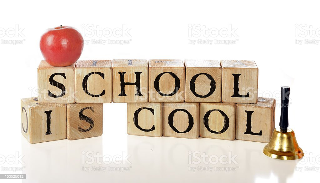 School Is Cool royalty-free stock photo