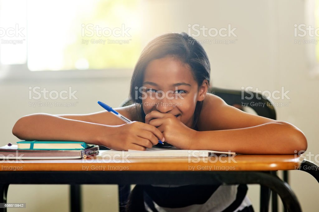 School is my happy place stock photo