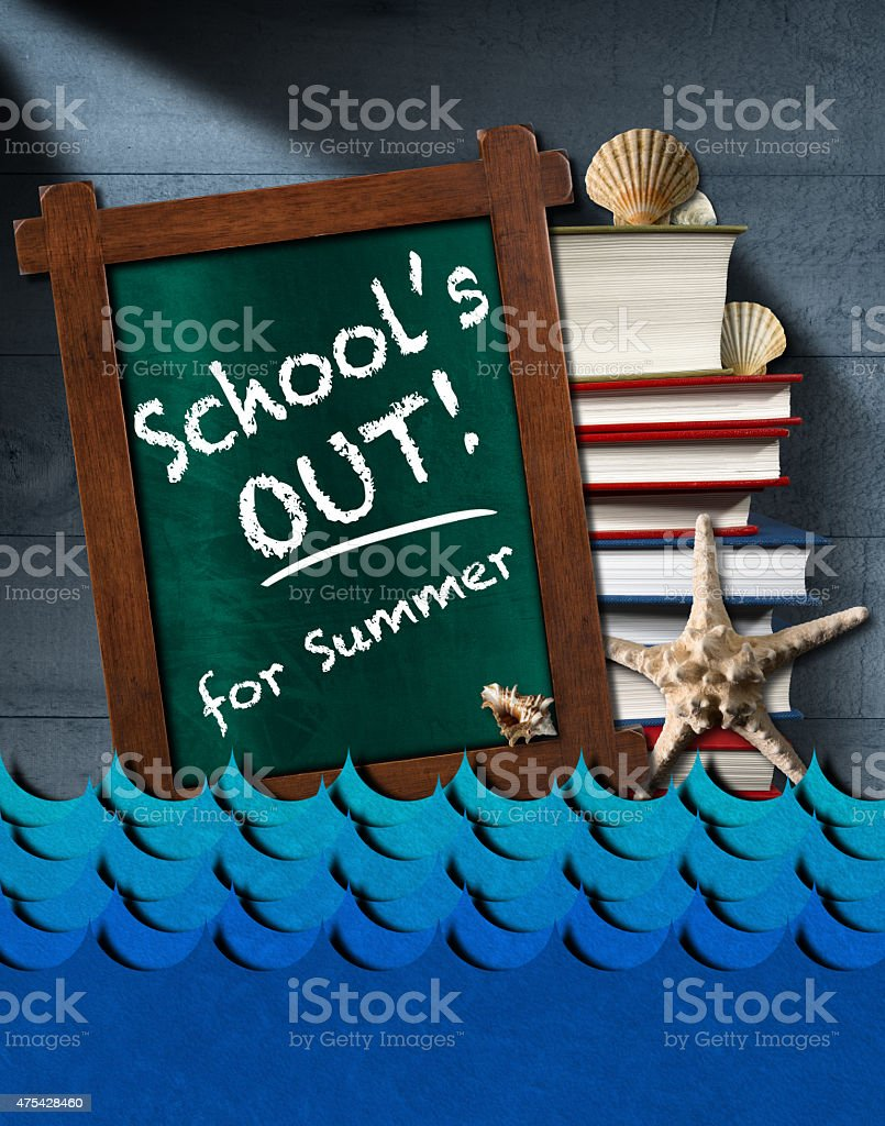 School is Out for Summer - Sea Waves stock photo