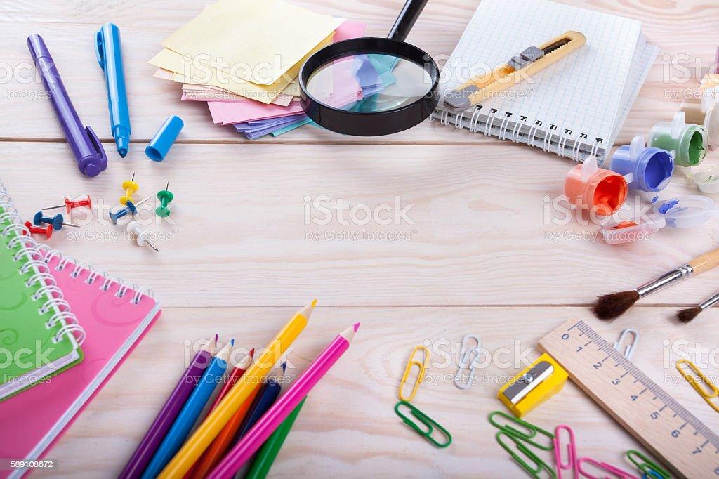 school items stock photo