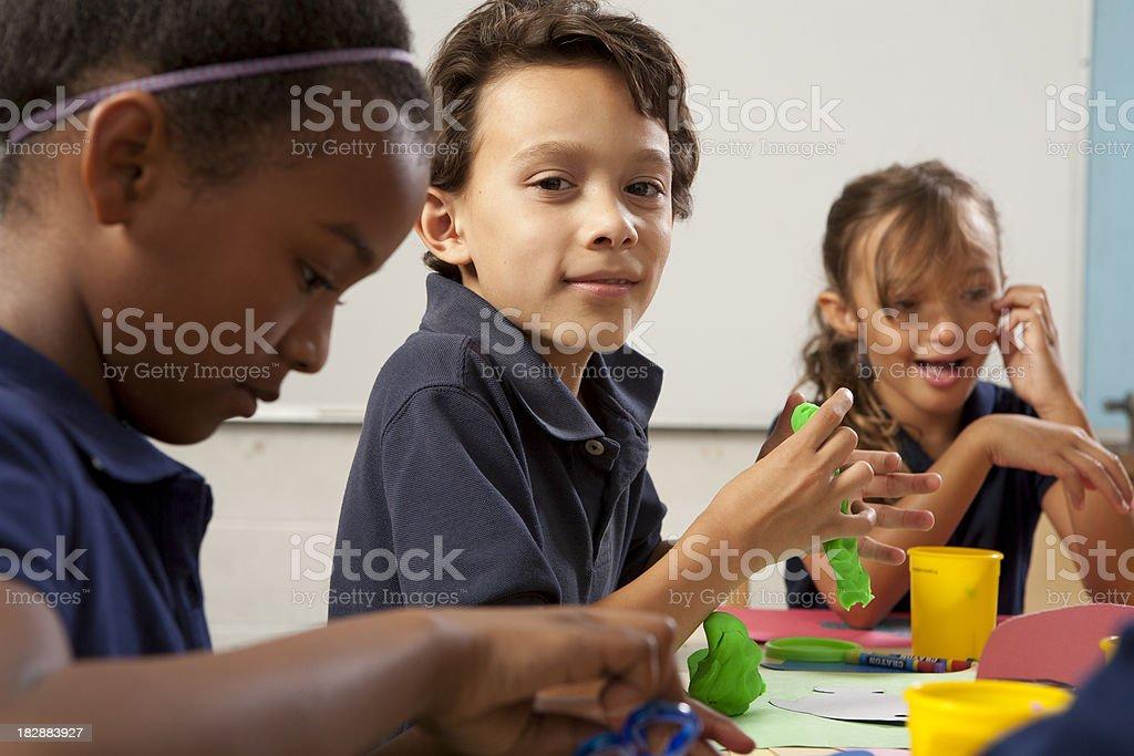 School Kids Making Art royalty-free stock photo