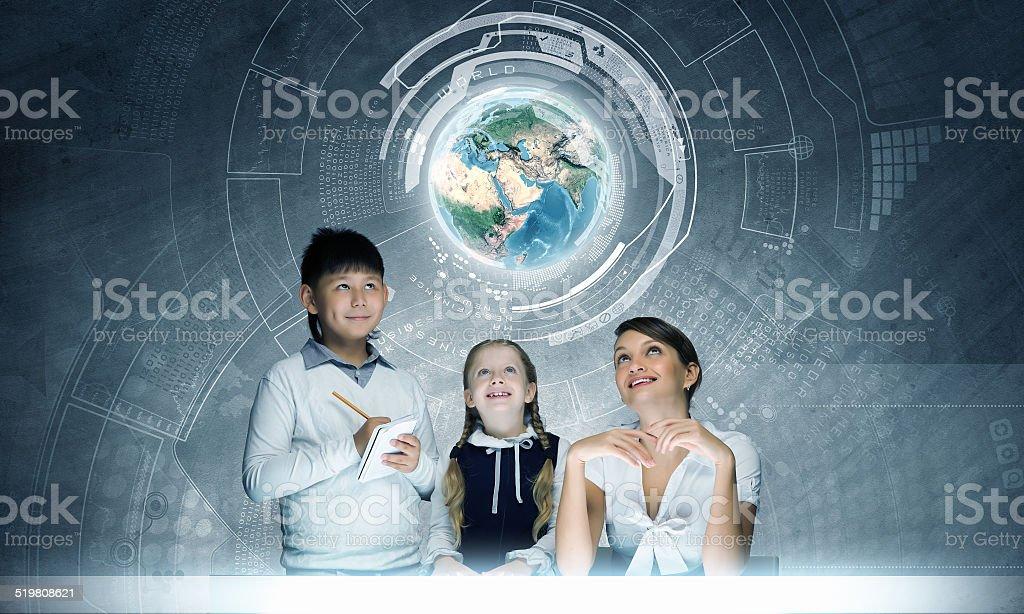 School lesson stock photo