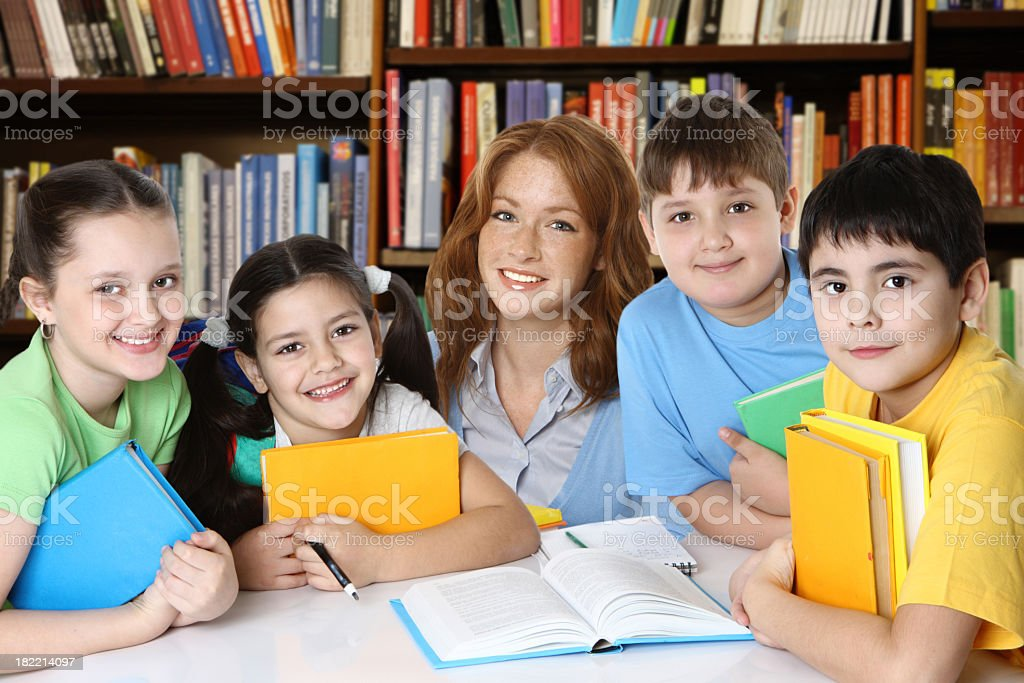 School library royalty-free stock photo