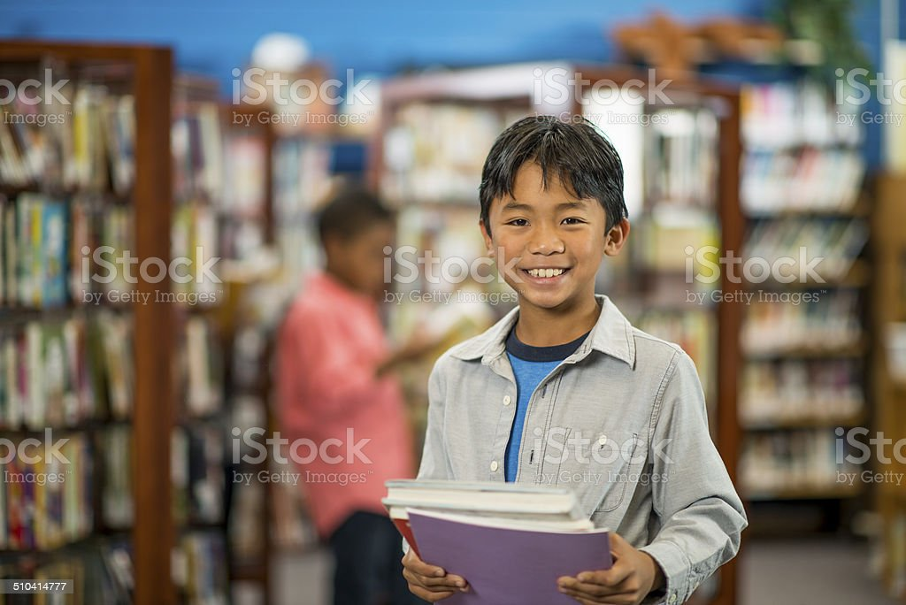 School Library stock photo