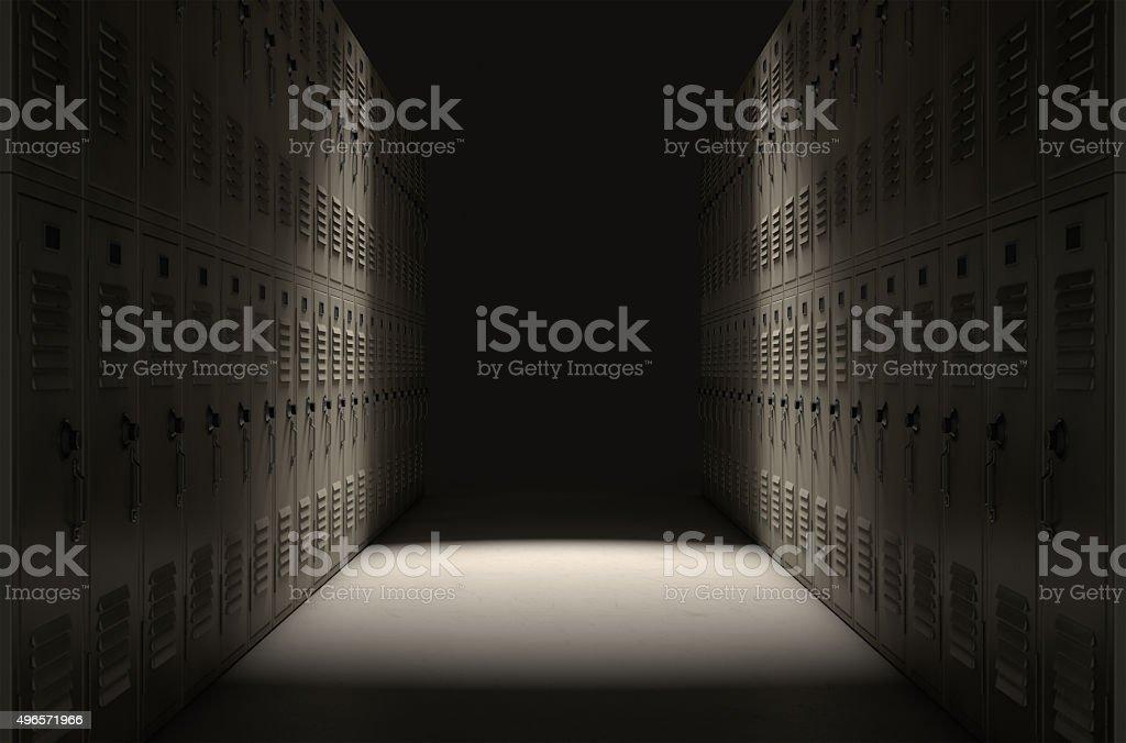 School Locker Corridor stock photo