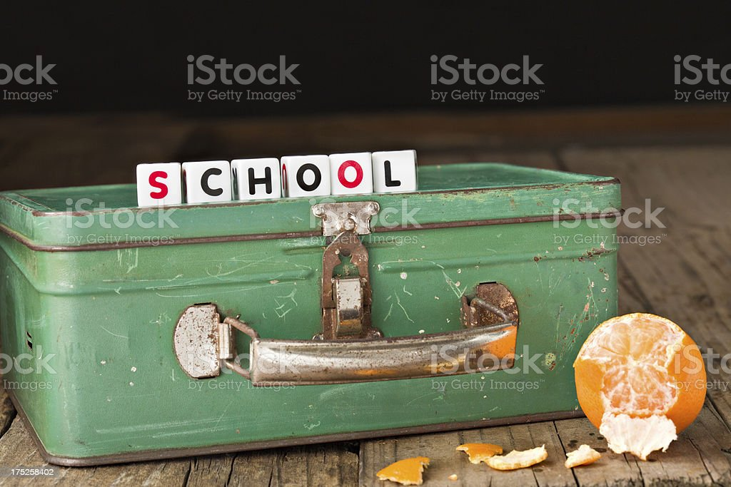 School Lunch Box stock photo