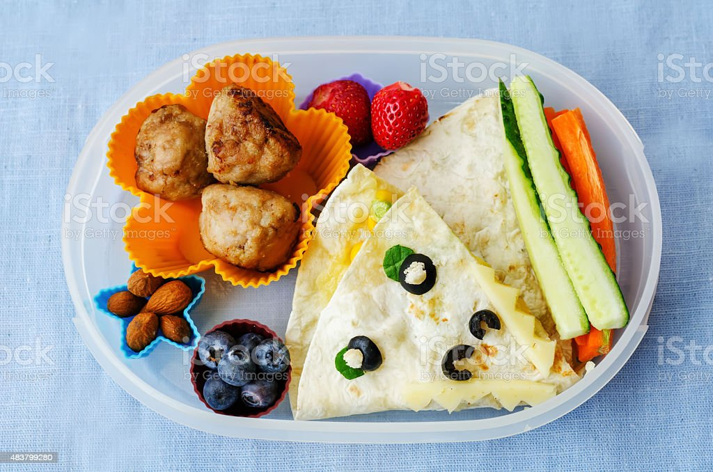 school lunch boxes for kids stock photo