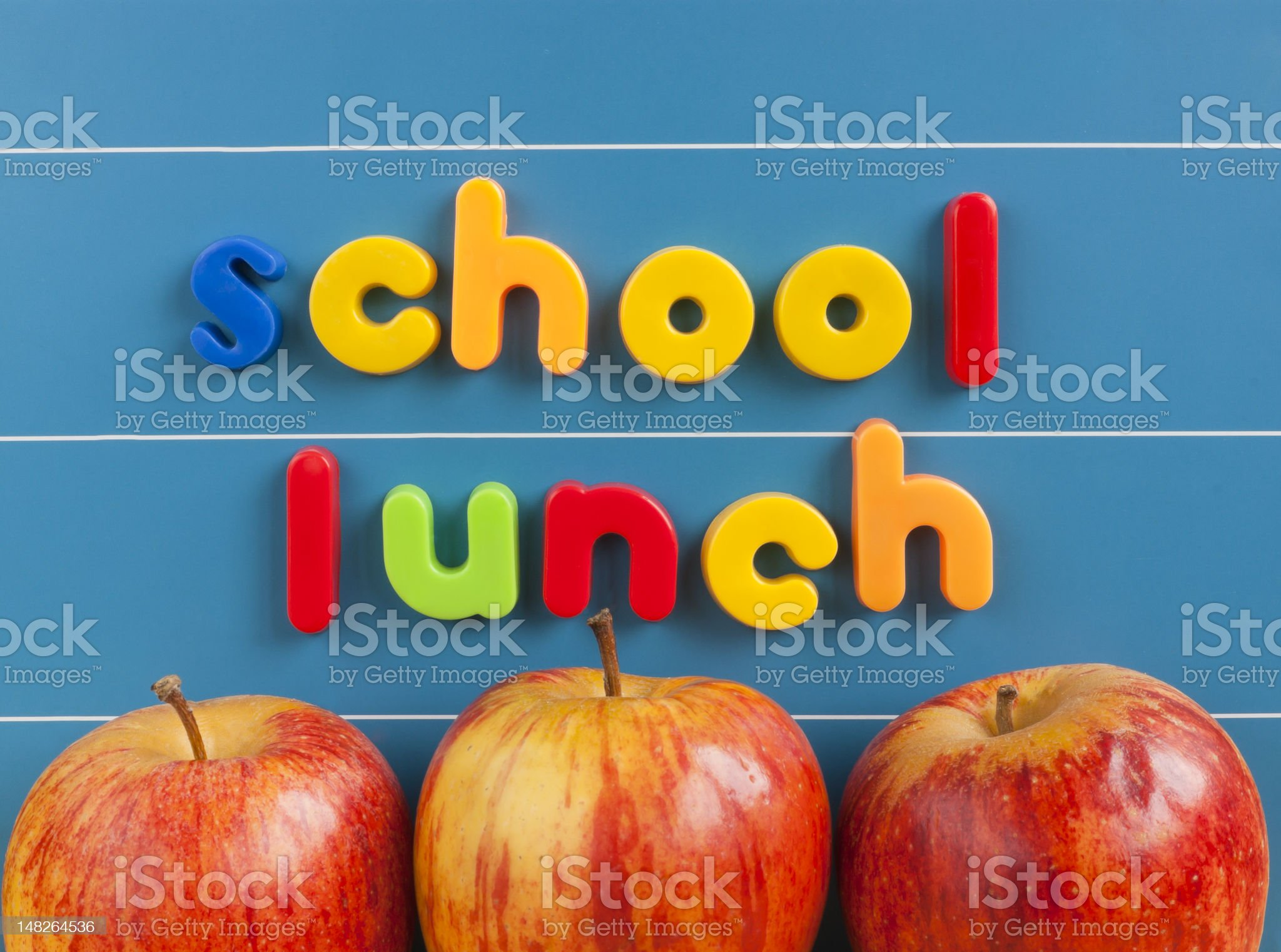 School lunch concept royalty-free stock photo
