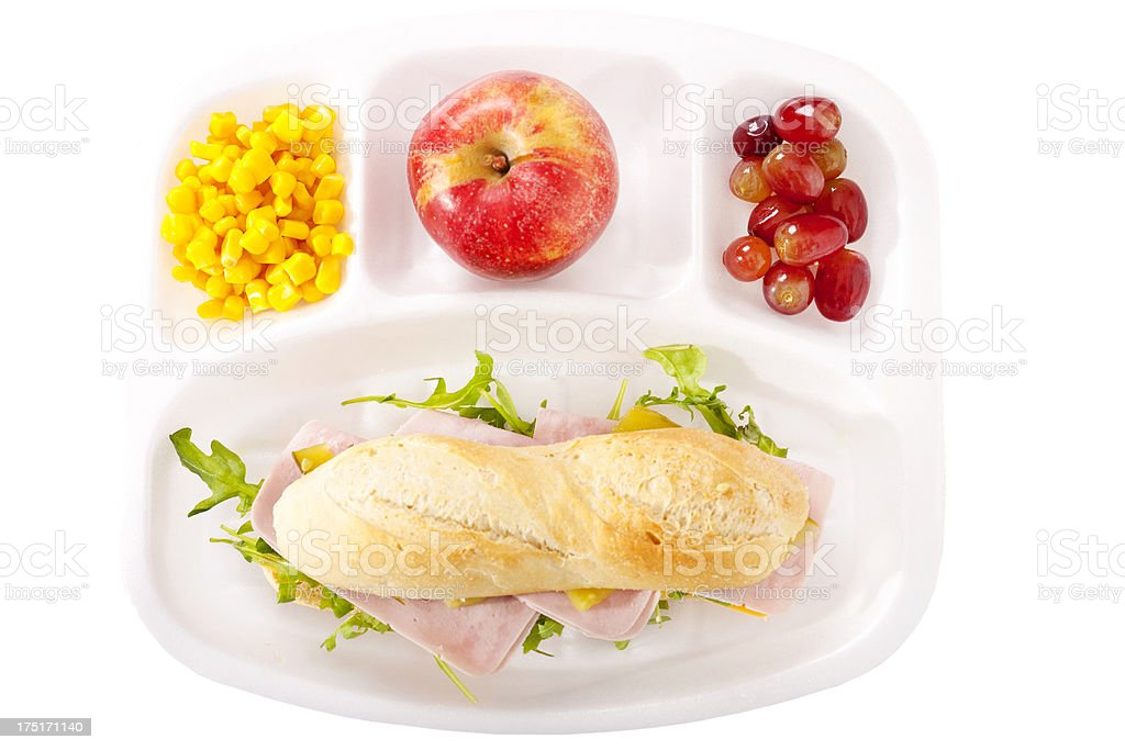 School lunch stock photo