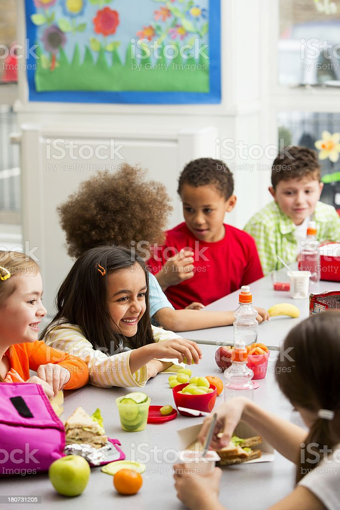 School Lunch Time royalty-free stock photo
