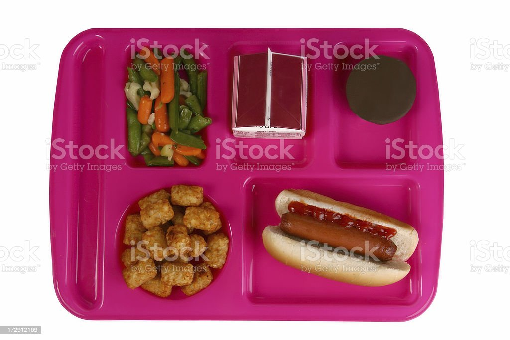 School Lunch Tray stock photo