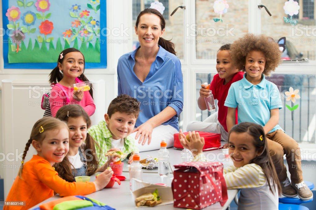 School Lunchtime Break royalty-free stock photo