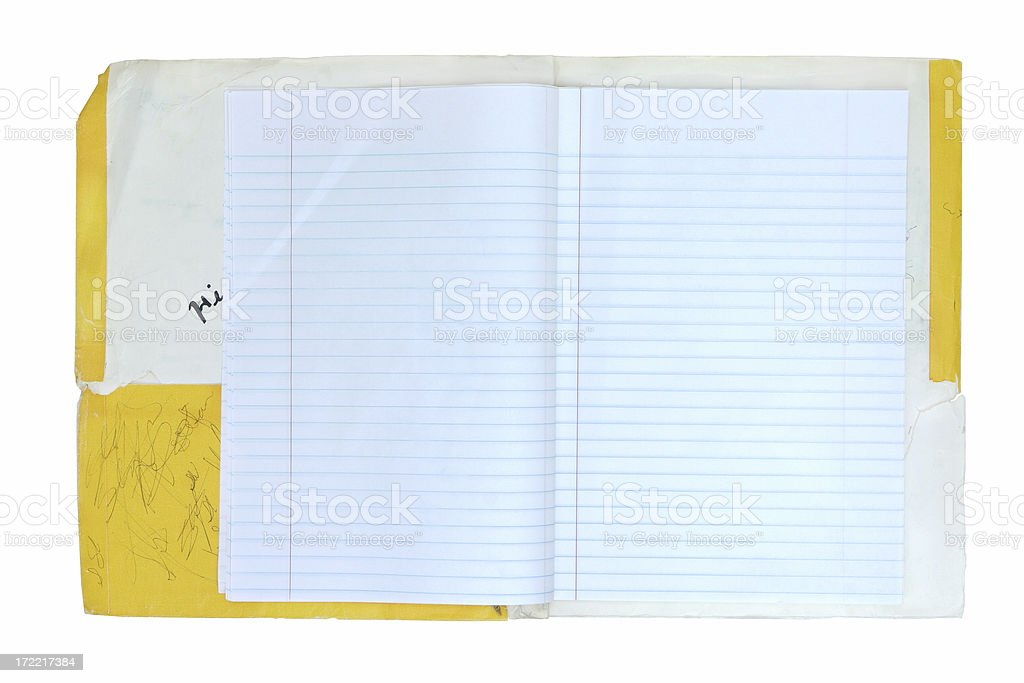 School Notebook Grunge royalty-free stock photo