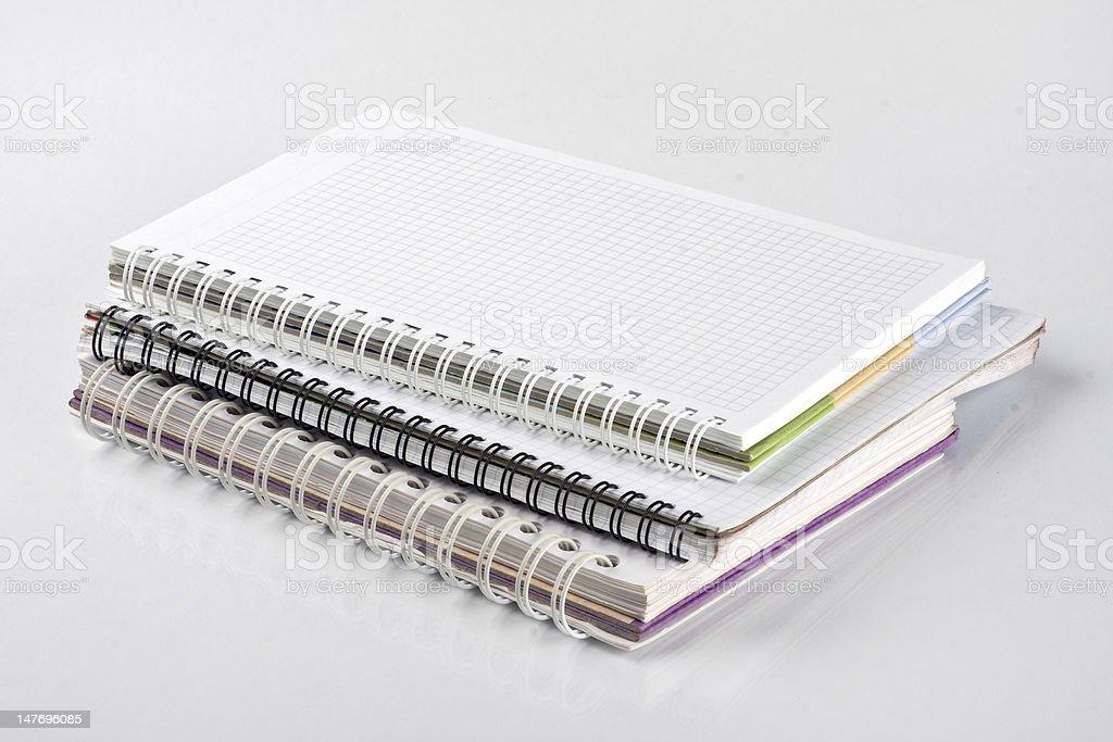 School notebooks stock photo