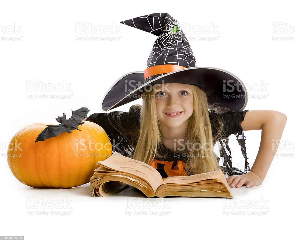 School of little witches. royalty-free stock photo