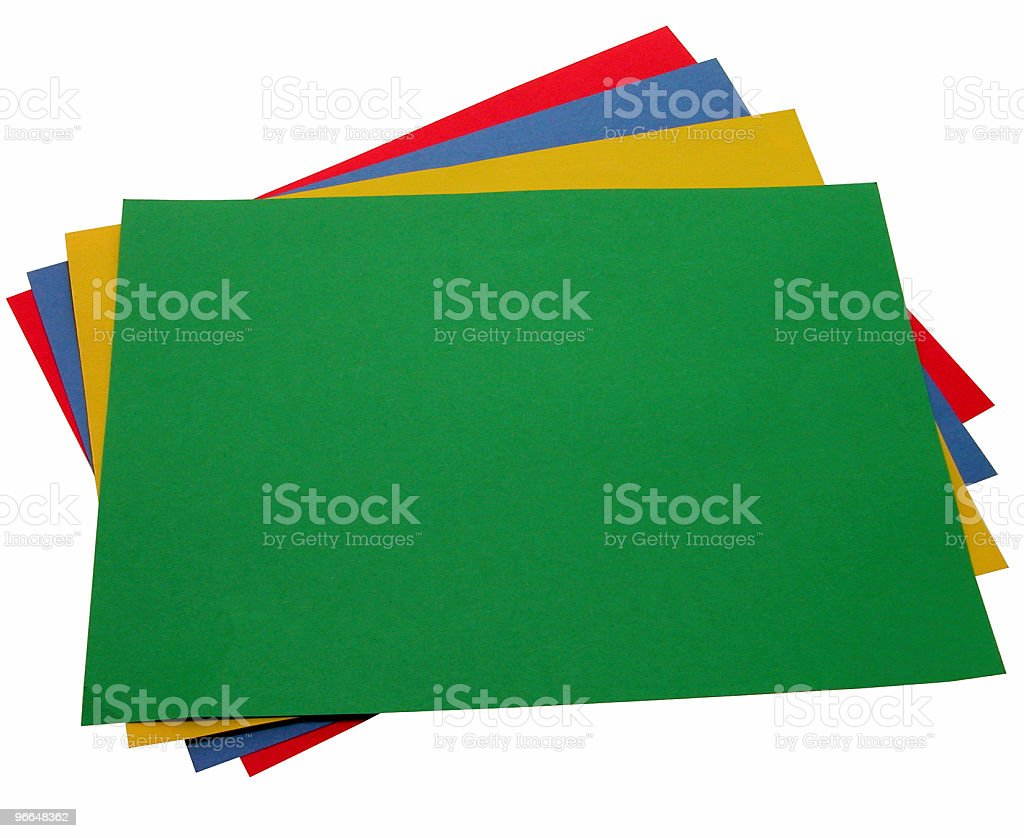 School & Office: Stack of Construction Paper royalty-free stock photo
