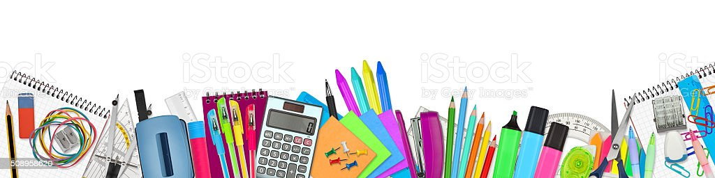 school / office supplies stock photo