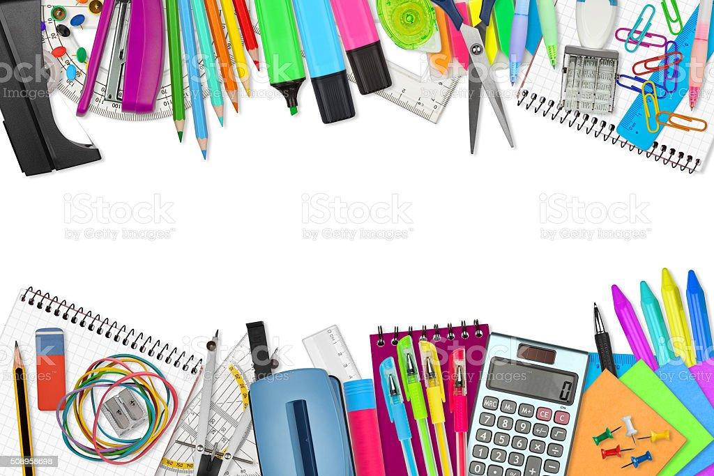 school / office supplies stock photo
