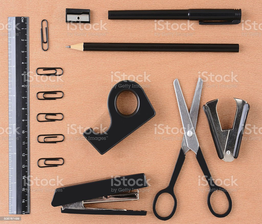 School or Office Supplies stock photo