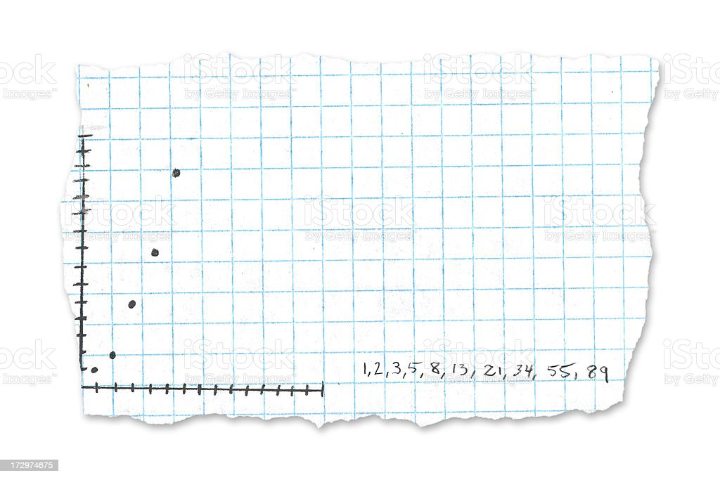 School paper tear - graph royalty-free stock photo