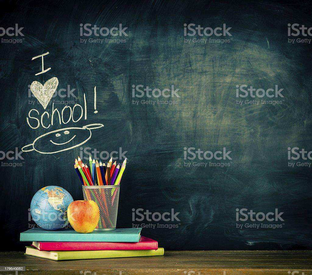 I LOVE School! stock photo
