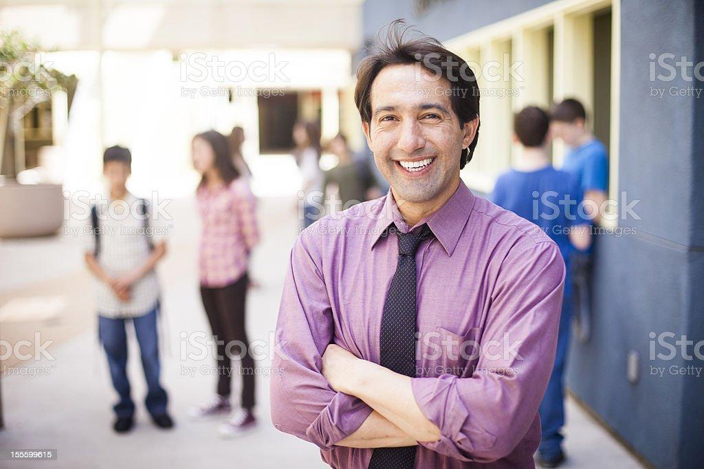School Principal on Campus stock photo