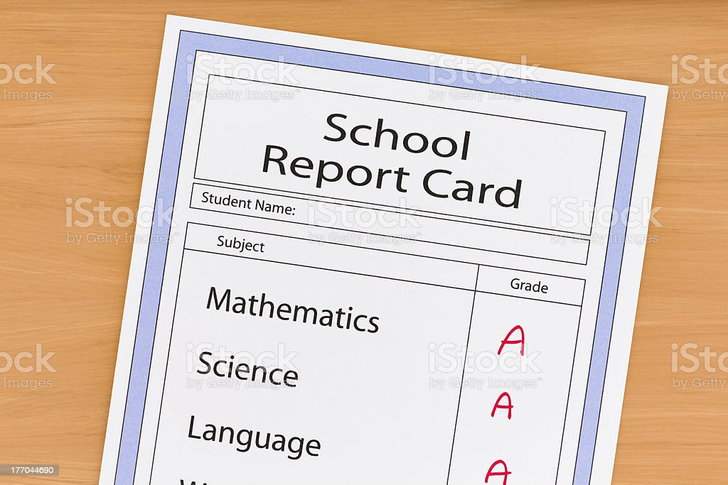 School Report Card royalty-free stock photo