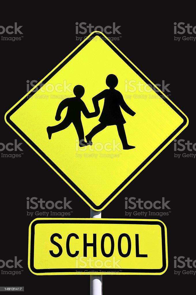 School road señal foto de stock libre de derechos