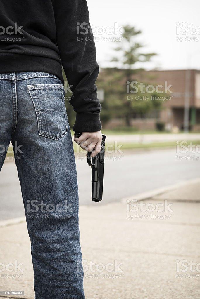 School Shooter Vertical stock photo