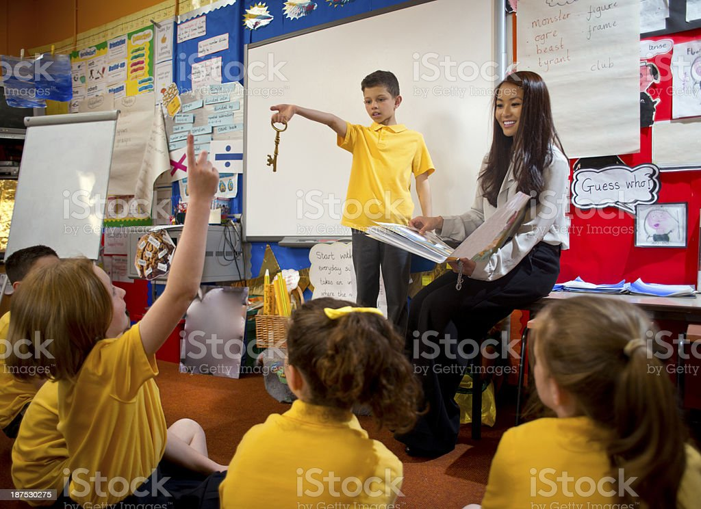school show and tell stock photo