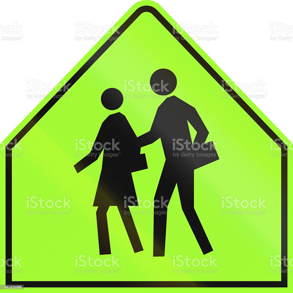 School Sign in Canada stock photo