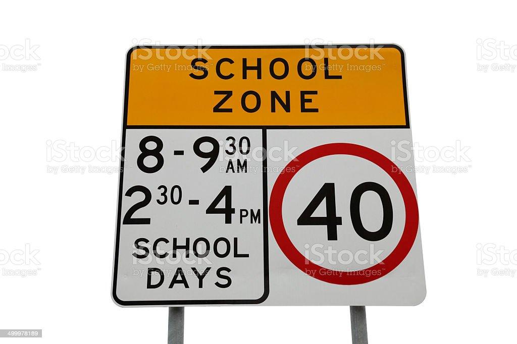 School Sign stock photo