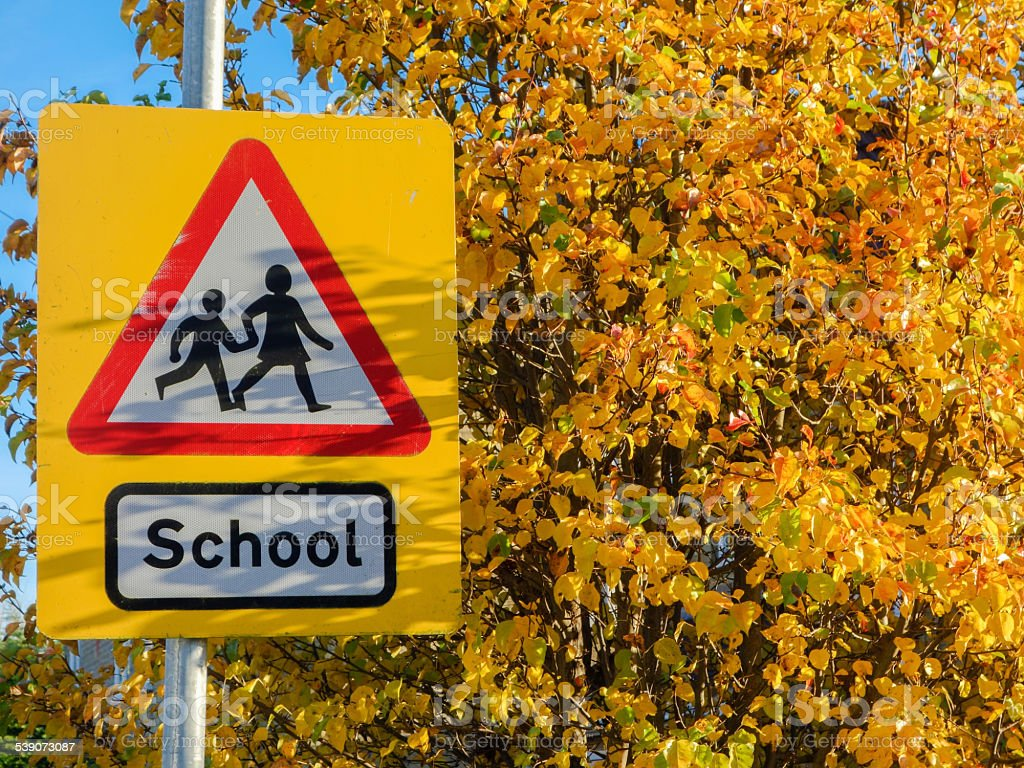 School sign stock photo