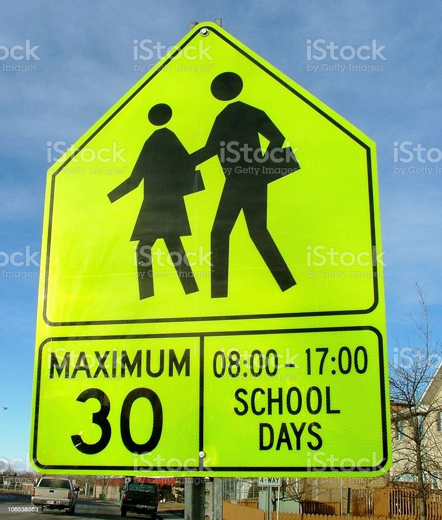 School Speed Limit Sign royalty-free stock photo