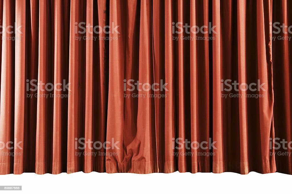School Stage Curtains royalty-free stock photo