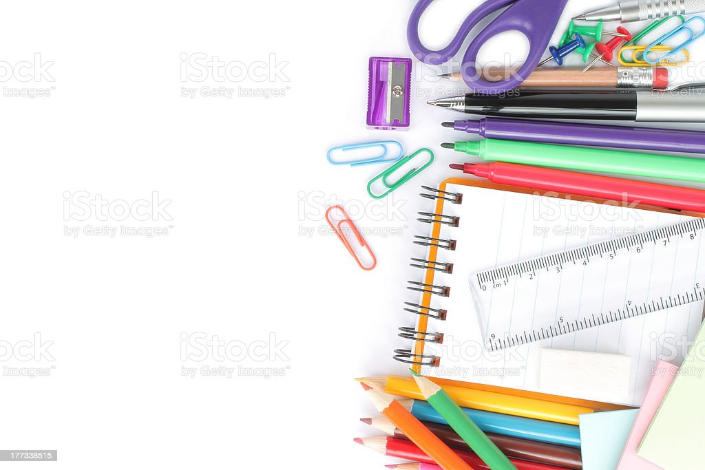 School stationery royalty-free stock photo