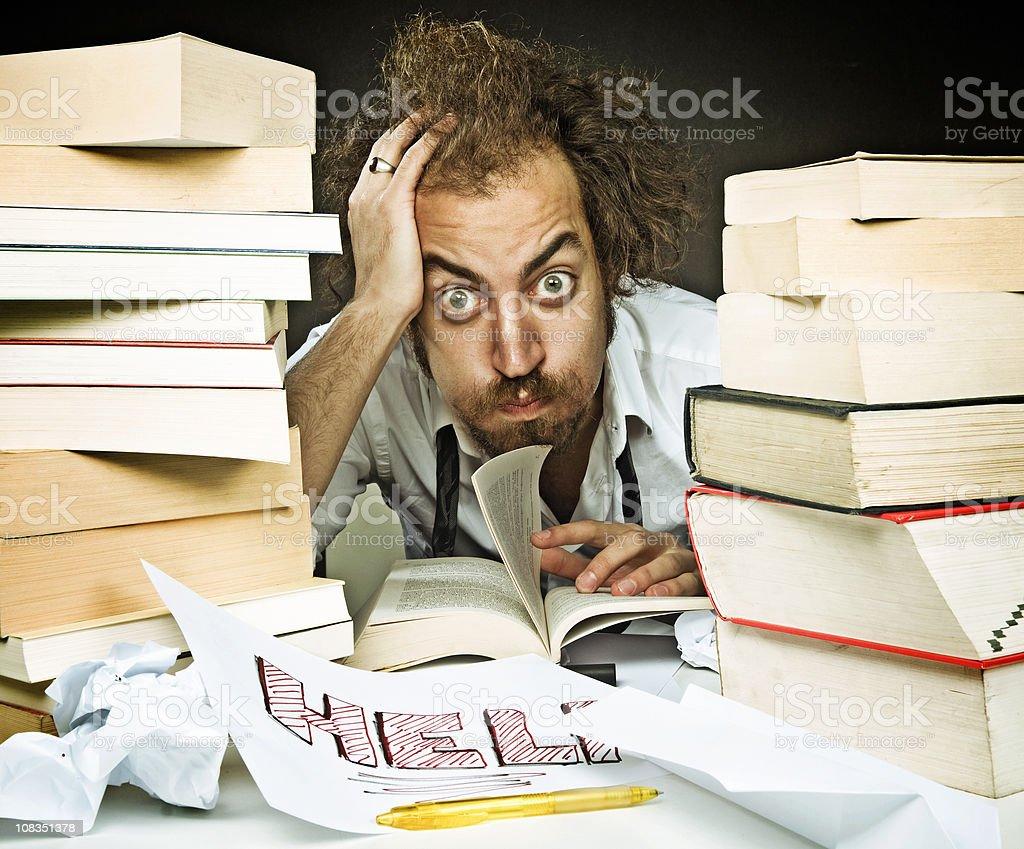 School stress royalty-free stock photo
