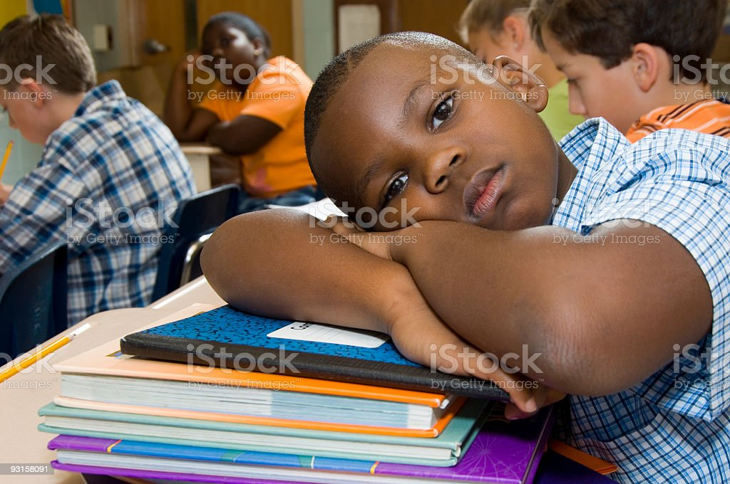 School student with books royalty-free stock photo