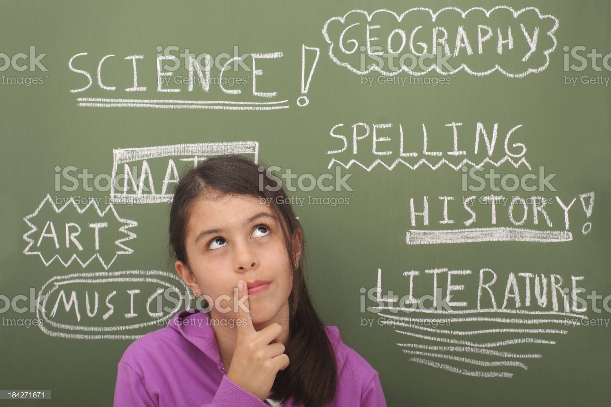 School Subjects royalty-free stock photo