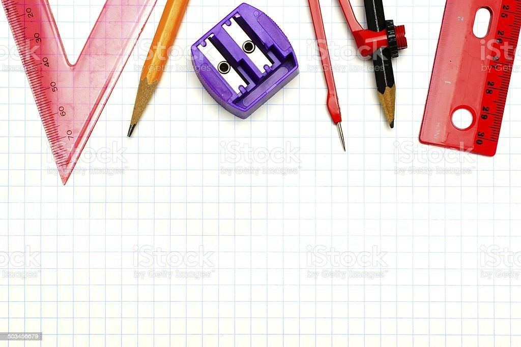School supplies background royalty-free stock photo