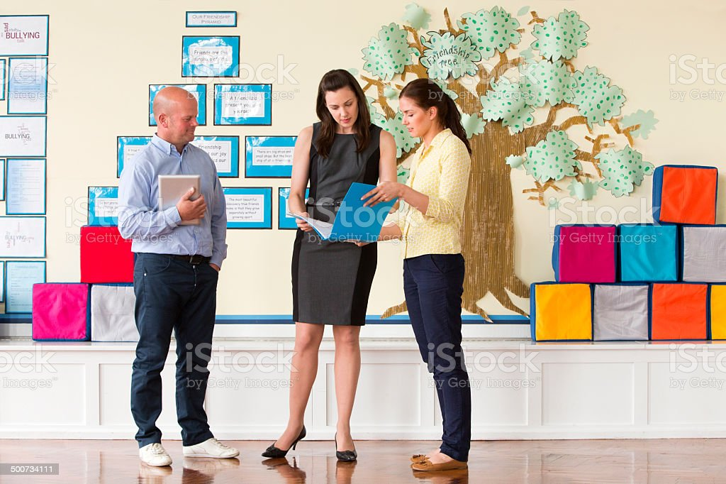 School Teachers Standing stock photo